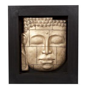 Buddha crack frame gold