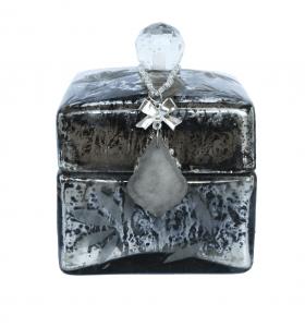 Decoratie box silver large