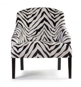Fauteuil Seine zebra